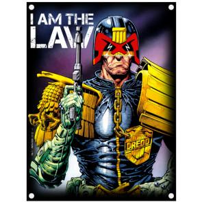 2000ad_judge_dredd_i_am_the_law_textile_flag
